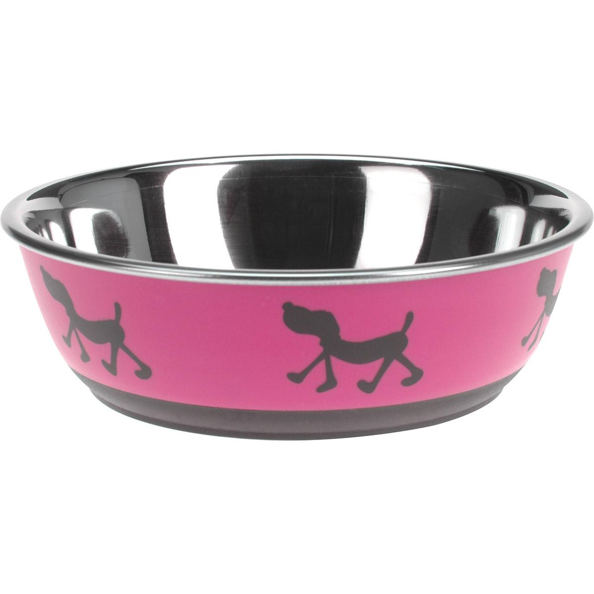 Miska pro psa Doggie treat růžová, pr. 17,5 cm