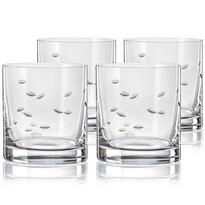 Crystalex CXBR083 4-częściowy komplet szklanek na whisky, 280 ml