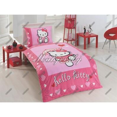 Matějovský dětské bavlněné povlečení Hello Kitty Moulin Rouge, 140 x 200 cm, 70 x 90 cm