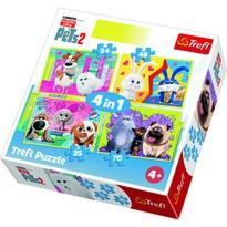 Trefl Puzzle Tajný život mazlíčků 2, 4 ks (35,48,54,70 dílků)