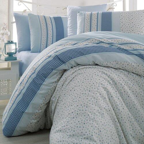 Bedtex povlečení bavlna Defne Modré, 220 x 200 cm, 2 ks 70 x 90 cm