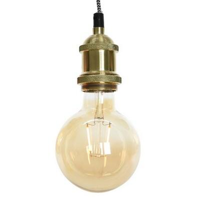 Hliníkové závěsné svítidlo Konya zlatá, pr. 5 cm