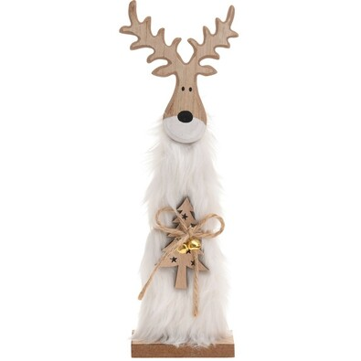 Karácsonyi fa Rénszarvas Ervin fehér, 30 cm
