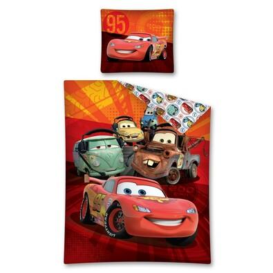 Dětské bavlněné povlečení Cars Kamarádi, 140 x 200 cm, 70 x 80 cm