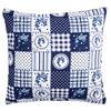 Obliečka na vankúšik Country patchwork modrá, 40 x 40 cm