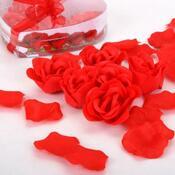 Romantické okvetné lístky