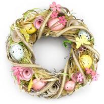 Veľkonočný veniec zdobený Coloured Eggs, 22 cm