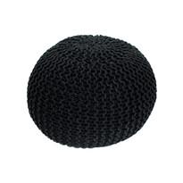 Pletený taburet Gobi 1, černá