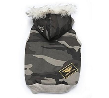 Bunda maskáč letecká pro psy, kapuce, XL