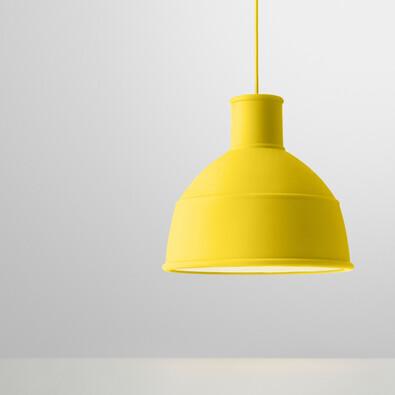 Lustr Unfold 32,5 cm, žlutý