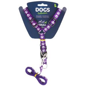 Vodítko pro psa s popruhy, fialová