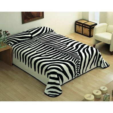piel pan lsk deka zebra ern 220 x 240 cm 4home pohodl domova. Black Bedroom Furniture Sets. Home Design Ideas
