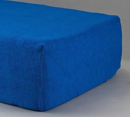 Prostěradlo froté, tmavě modré, 90 x 200 cm