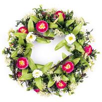 Coroniță cu flori de primăvară cu 25 cm