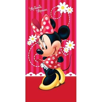 Minnie pinkie red törölköző, 75 x 150 cm