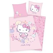 Lenjerie de pat din bumbac pentru copii Hello Kitty, 140 x 200 cm, 70 x 90 cm