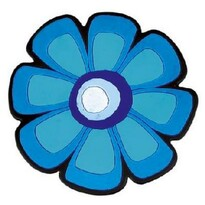 Virág konyhai edényalátét, kék, 10 x 10 cm