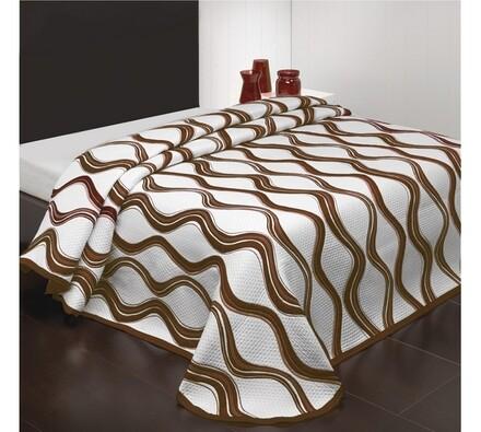 Přehoz na postel Airosa, béžovohnědý, 160 x 220 cm