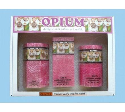 Dárková sada palmových svíček opium