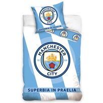 Pościel bawełniana Manchester City Superbia In Praelia, 140 x 200 cm, 70 x 80 cm