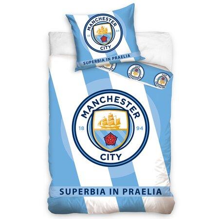 Manchester City Superbia In Praelia pamut ágynemű, 140 x 200 cm, 70 x 80 cm