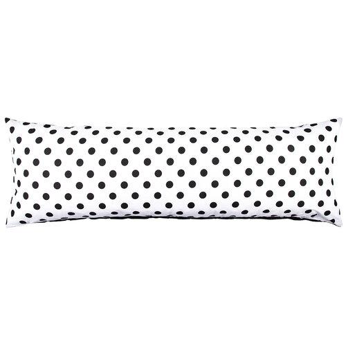 4Home Pótférj Relaxációs párnahuzat fekete pöttyös, 50 x 150 cm