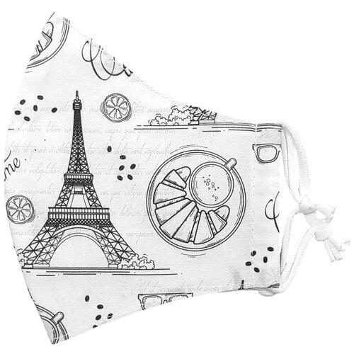 Ústní bavlněná rouška Eiffelova věž