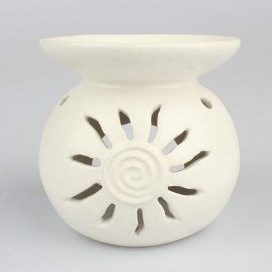 Kominek aromatyczny z ceramiki Słonce, 11,5 cm