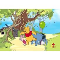 Fototapeta dziecięca XXL Miś Puchatek i  przyjaciele 360 x 270 cm, 4 części