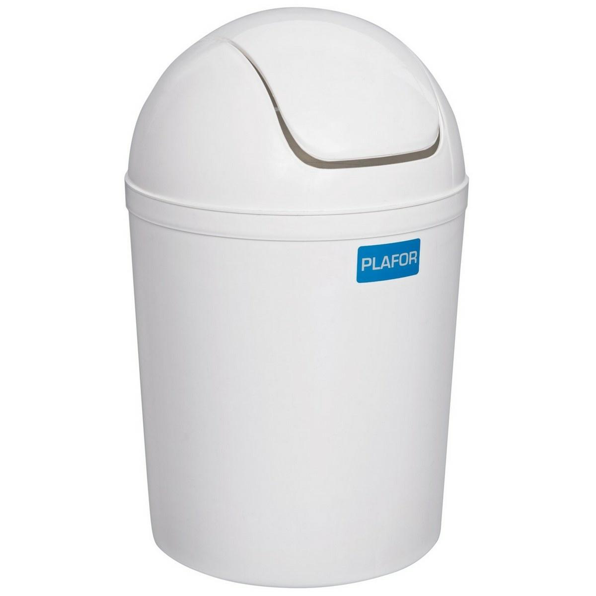 Coș cosmetic de gunoi Aldotrade Swing 5 l, alb imagine 2021 e4home.ro