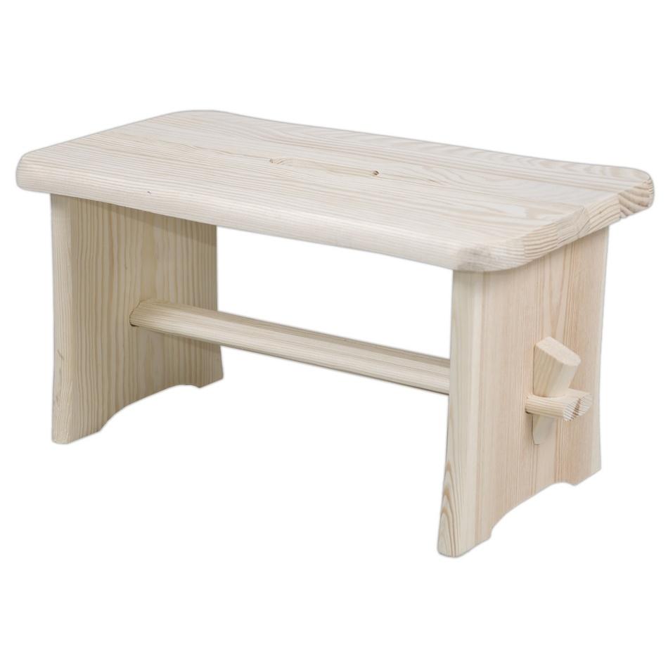 Dřevěná stolička, béžová