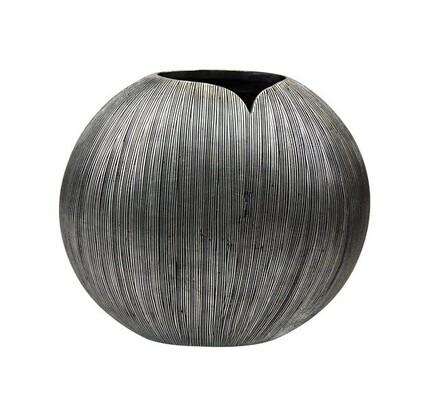 Váza Metalia, šedá, 34,6 x 38,5 cm