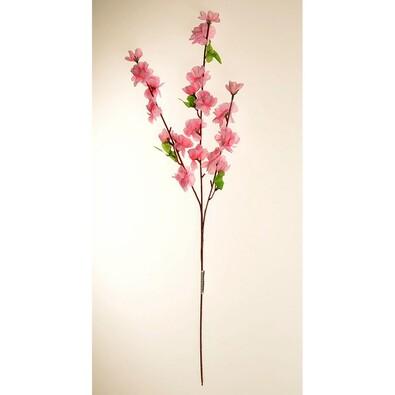 Umelá vetvička Broskyňa ružová, 65 cm
