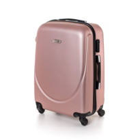 Pretty UP Kufor na kolieskach ABS16 růžová, 43 x 59 x 26 cm
