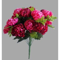 Buchet artificial Crizantema, vișiniu