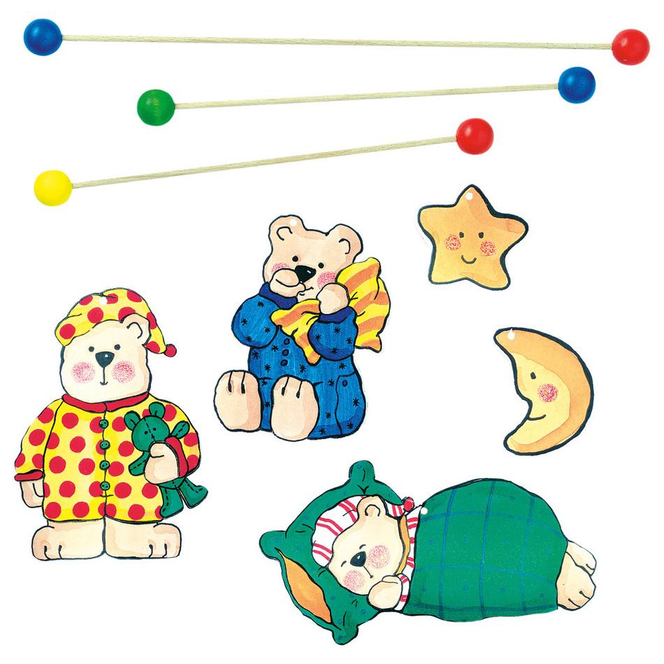 Bino Závěsný kolotoč -spící medvědi