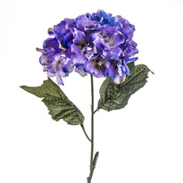 Umelá kvetina Hortenzia, modro-fialová