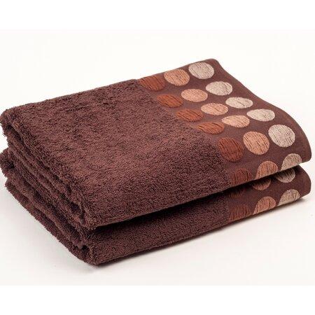 Ručník Fashion Round hnědá, 30 x 50 cm
