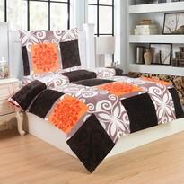 Lenjerie de pat din micro-pluş Fluture, portocaliu, 140 x 200 cm, 70 x 90 cm
