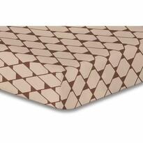 Cearșaf DecoKing Rhombuses, maro S1, 160 x 200 cm