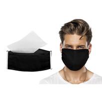 Ústne bavlnené rúško čierna + NANO filter