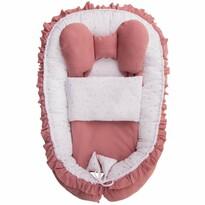 Belisima Hnízdečko pro miminko s peřinkou Angel Baby, růžová