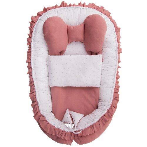 Belisima Kokon niemowlęcy z kołderką Angel Baby, różowy