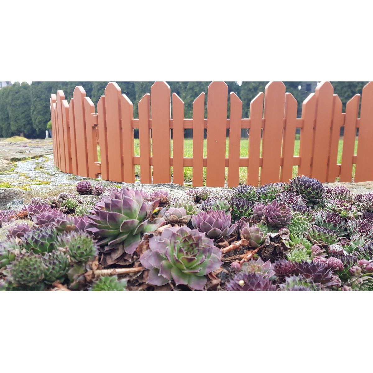 Zahradní plůtek Home terakota, 2,3 m