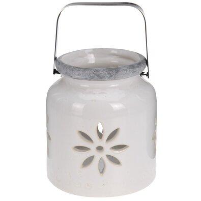 Porcelánový lampáš Fabara, biela