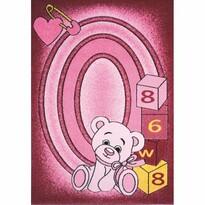 Detský koberec Toys pink C 126, 133 x 195 cm