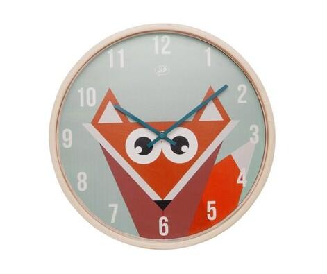 Karlsson JIP0901 dětské nástěnné hodiny s liškou