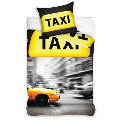 Lenjerie de pat Taxi, 140 x 200 cm, 70 x 90 cm