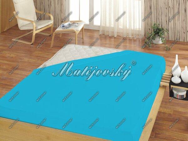 Matějovský jersey prestieradlo tyrkysová, 100 x 200 cm