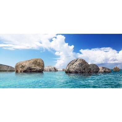 Fototapeta balvany v moři 202 x 90 cm